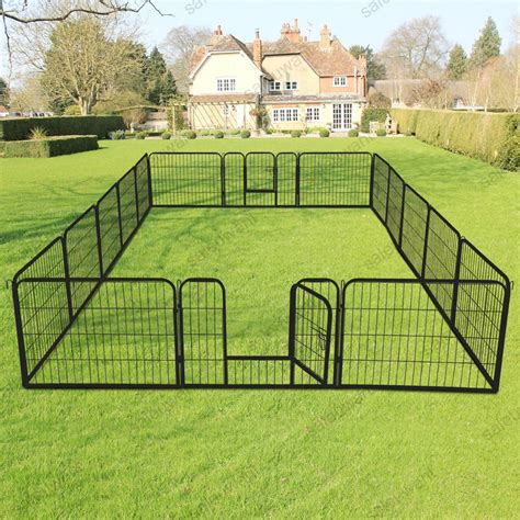 panel heavy duty metal cage crate pet dog cat fence