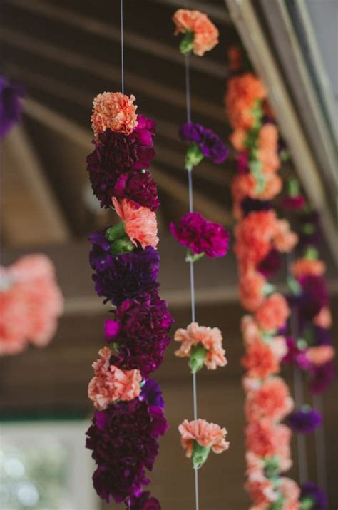lace  lilies hanging carnations carnation garland