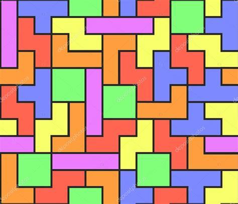 Google Plus Background Image Tetris Seamless Vector Background Stock Vector Klaradohnalova 12638593