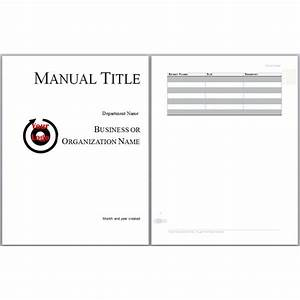 microsoft word manual template basic and employment With user manual design template