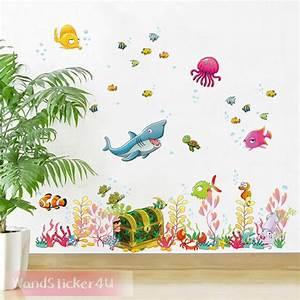 Wandtattoo Unterwasserwelt Kinderzimmer : wandtattoo fische unterwasserwelt kinderzimmer bade ~ Sanjose-hotels-ca.com Haus und Dekorationen
