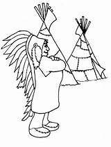 Coloring Pages Teepee Popular sketch template