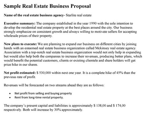 Commercial Real Estate Business Plan Template Costumepartyrun
