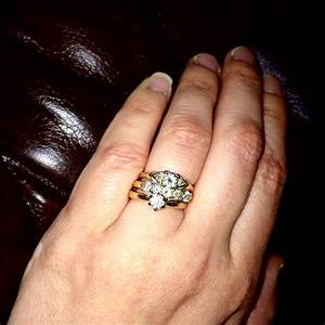 wedding rings wearing wedding rings one ring for With do you wear your engagement ring first or wedding band