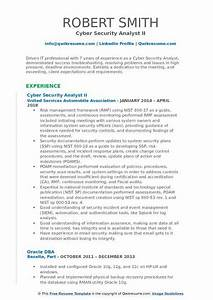 Build Resume Free Download Cyber Security Analyst Resume Samples Qwikresume