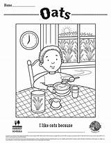 Oats Coloring Sheets Foodhero sketch template