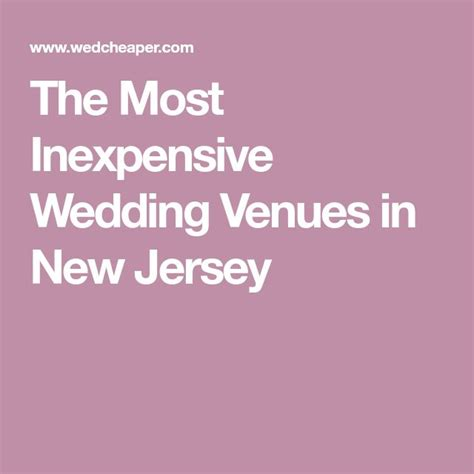 inexpensive wedding venues   jersey