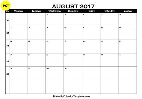 calendar template august 2017 august 2017 calendar printable printable calendar templates