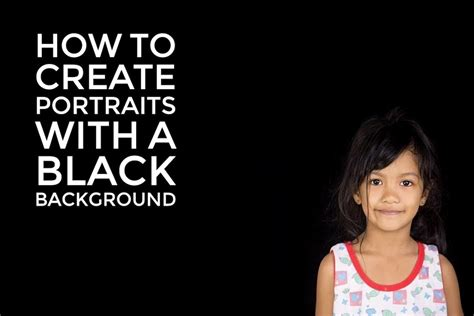 create portraits   black background