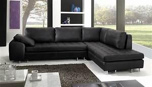 Grand Canapé D Angle Convertible : grand canap pas cher impressionnant canap d angle en cuir ~ Melissatoandfro.com Idées de Décoration