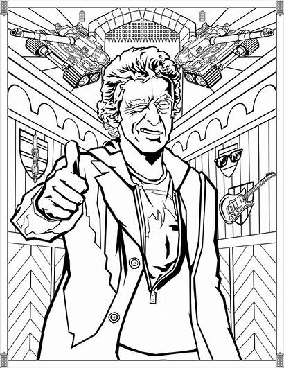 Doctor Coloring Pages Twelfth Tv Peter Adults