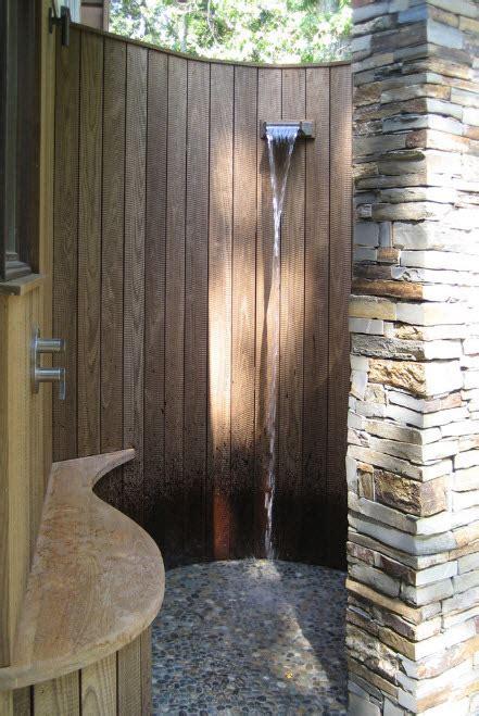 refreshing diy outdoor shower ideas gravetics