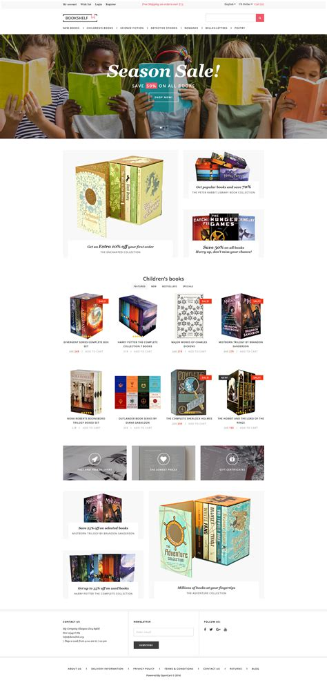 opencart bookstore template book store opencart template