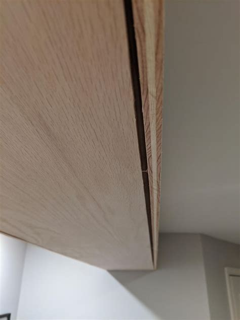 Wood filling can be useful for a. How can I fill in this gap for a faux wood beam? It's a 1/4 inch and we plan to stain it. https ...