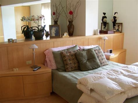Headboard With Built In Nightstands by Built In Headboard And Nightstands Contemporary