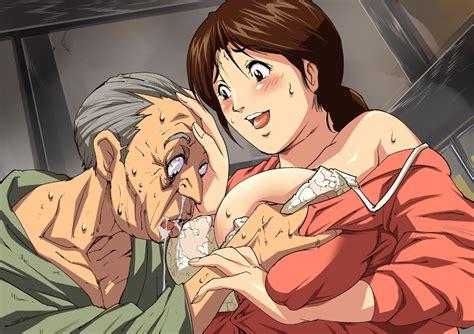 Breast Groping Old Man 66184 Hentai Image