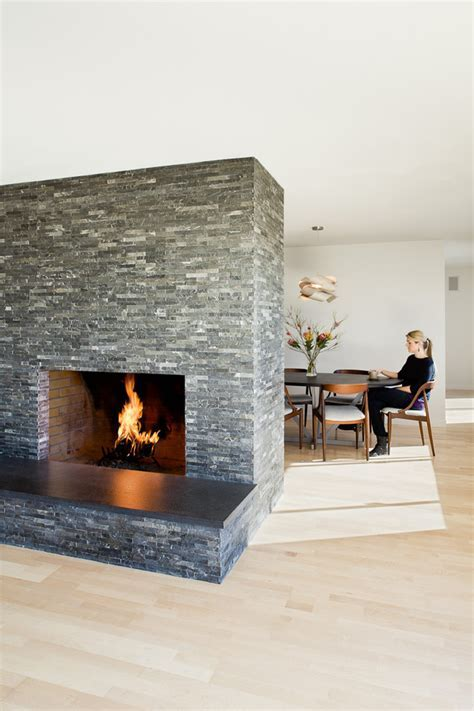 fireplace hearth stone Living Room Modern with