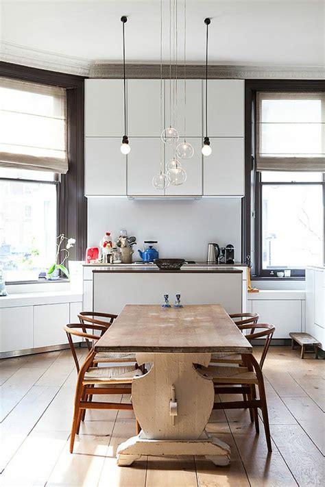 suspension luminaire cuisine ambiance cosy par le luminaire led dans une cuisine
