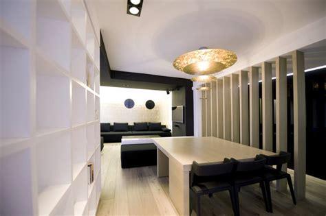 meuble pour separer cuisine salon un appartement tout blanc et tout en hi macs galerie