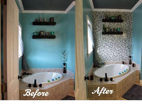 tiles for bathroom walls ideas diy glass tile accent wall in master bathroom hometalk