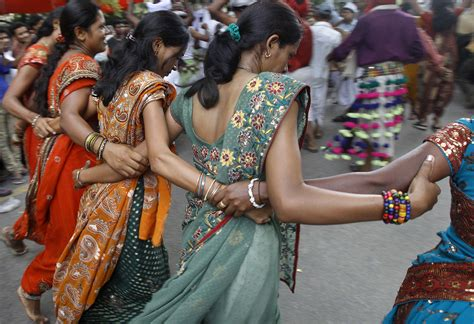 Tribal dancers from the western Indian state of Gujarat