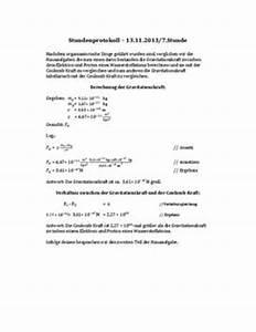 Gravitationskraft Berechnen : facharbeit protokoll zu den themen gravitation und coulombkraft ~ Themetempest.com Abrechnung
