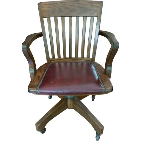 wood and leather desk chair vintage jasper seating co solid wood leather banker