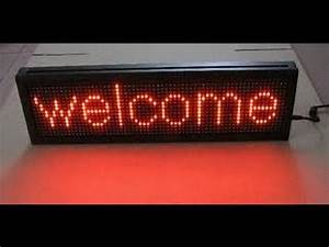 tishitu led message board display by 8051 microcontroller With led letter display