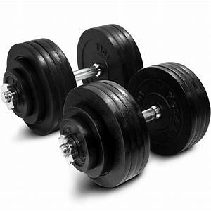Yes4all Adjustable Dumbbell Set Weight Cap Fitness Gym - 200lbs