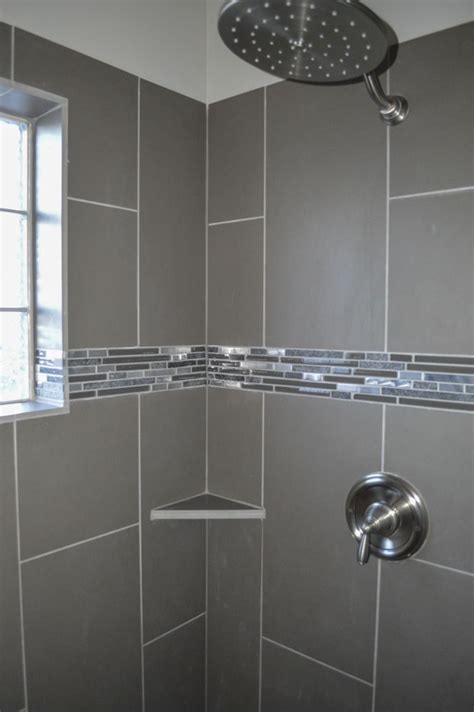 master bathroom shower floor mosaic detail master walk in shower with glass block window and
