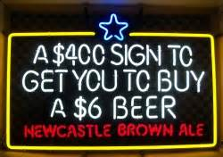 Newcastle Brown Ale Bollocks 0 Neon Beer Bar Sign Light