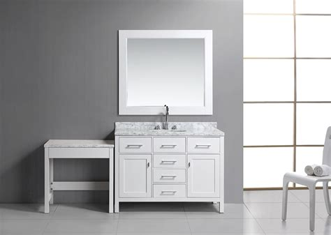 sink bathroom vanity with makeup table 36 quot single sink vanity set in white with one make