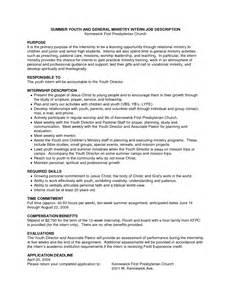 ministry resume exles sle resume for pastors