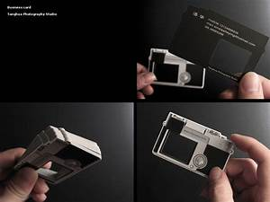 Camera shaped photography business card design for Cool photography business card
