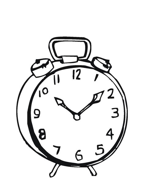 clock coloring page free printable clock coloring pages for
