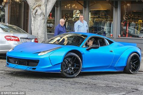 Justin bieber's ferrari 458 italia gets liberty walk. Justin Bieber gets ticketed in his blue Ferrari for making an illegal turn | Daily Mail Online