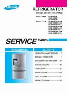 Samsung Rf25hmedbsr Rf25hmedbbc Rf25hmedbww Refrigerator