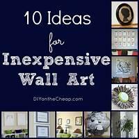 nice art decor wall ideas 10 Ideas for Inexpensive Wall Art - Erin Spain