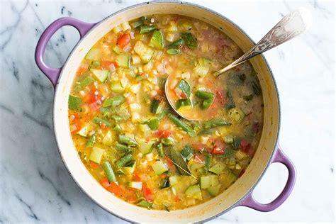 budget cuisine summer minestrone soup recipe simplyrecipes com