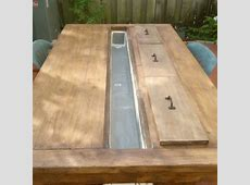 Builders Showcase Rustic Outdoor Table with Cooling Tray