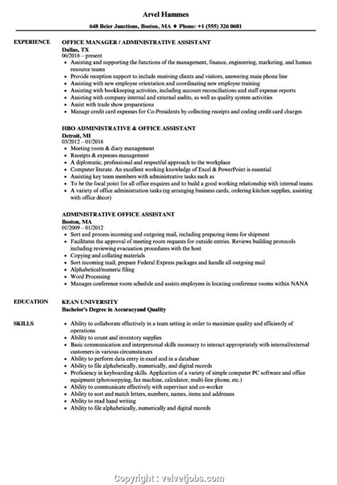 Chronological Resume Office Assistant by Styles Office Assistant Resume Sle Administrative