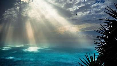 Sunrays Rays Sun 4k Sea Wallpapers Nature
