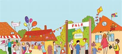 Festival Town Clipart Fair Illustration Vector Holiday