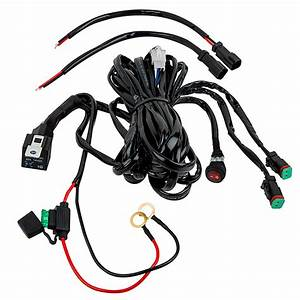 led light wiring harness with relay and weatherproof With led light wiring harness with relay and weatherproof switch dual