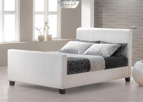 hoffman bed frame double jysk canada   white