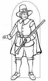 Pilgrim Coloring Printable Pilgrims Activity Thanksgiving Brave Were Wearing Clothes Colors Know Template Sketch Results Please 321coloringpages sketch template