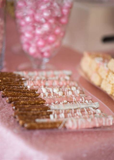 shimmering pink  gold baby shower baby shower ideas