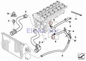 4 X Bmw Genuine Cooling System Coolant Hoses O