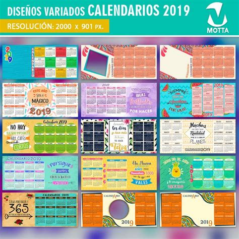 plantillas calendario sublimar mugs tazones
