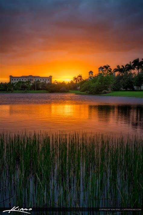 palm gardens sunset at lake pga boulevard